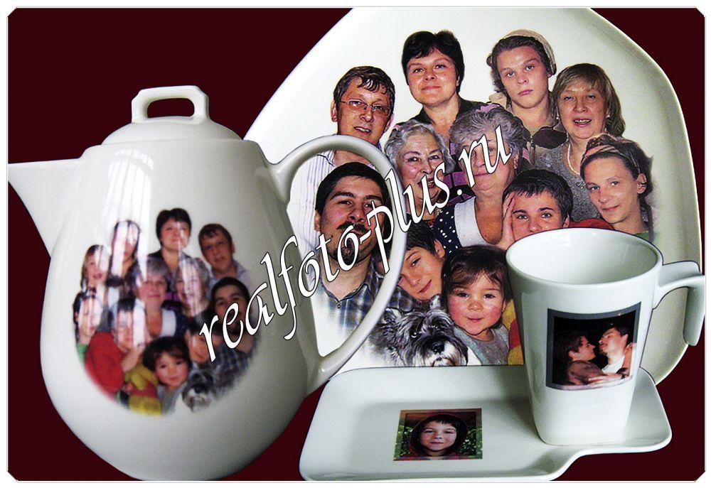 Фото на посуде в подарок